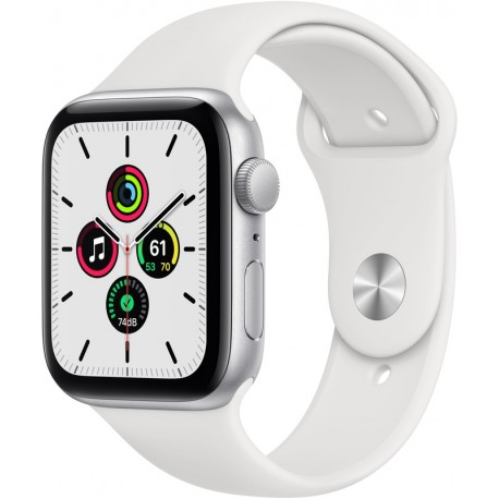 Apple Watch SE 44mm Silver (Witte Sportband)